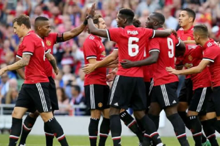 Manchester United players on international duty