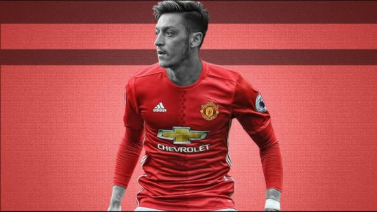 How Mesut Ozil will look in Man United jersey if he completes move