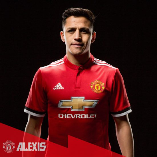 Picture: Alexis Sanchez all smiles as he completes Man United move