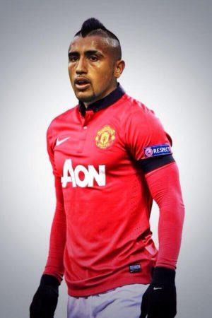 Picture: Vidal looks good in a Man United jersey if he joins Sanchez at Old Trafford