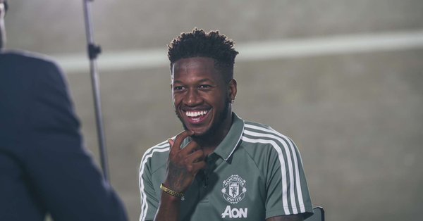 Picture: Fred all-smiles after completing £52.5m transfer